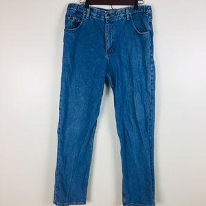 LL Bean Comfort Waist Jeans Mens 34 Cotton Light W